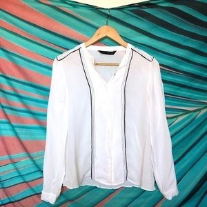 Zara white button up shirt